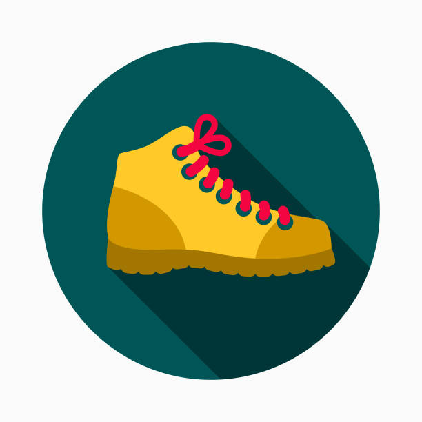 work boots flat design home improvement icon - boot stock illustrations