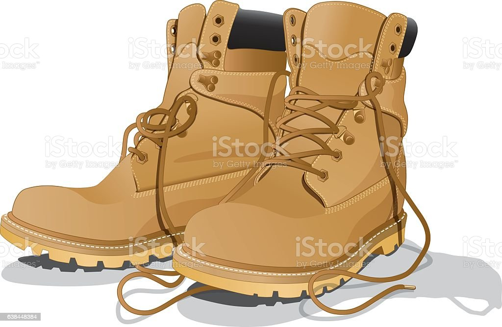royalty free work boot clip art vector images illustrations istock rh istockphoto com boot clip art images boot clip art free