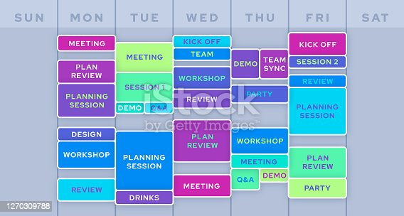 istock Work Business Planning Calendar Schedule 1270309788