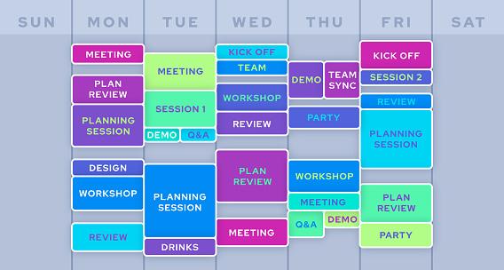 Work Business Planning Calendar Schedule