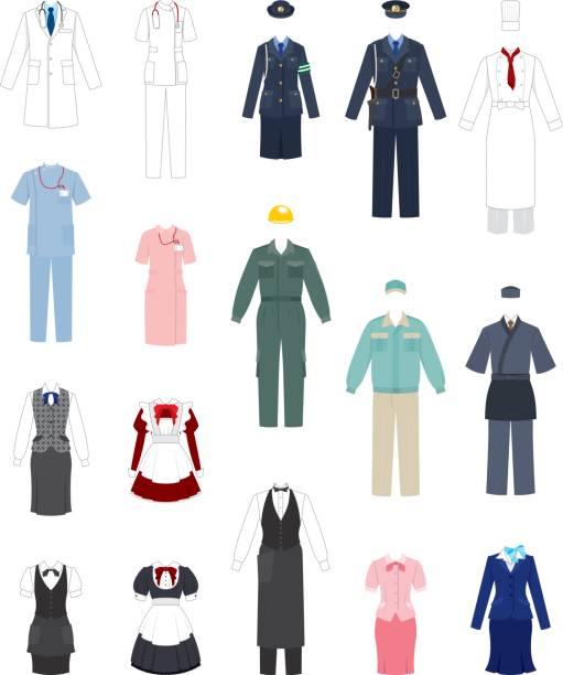 ilustrações, clipart, desenhos animados e ícones de roupas de trabalho - enfermeira
