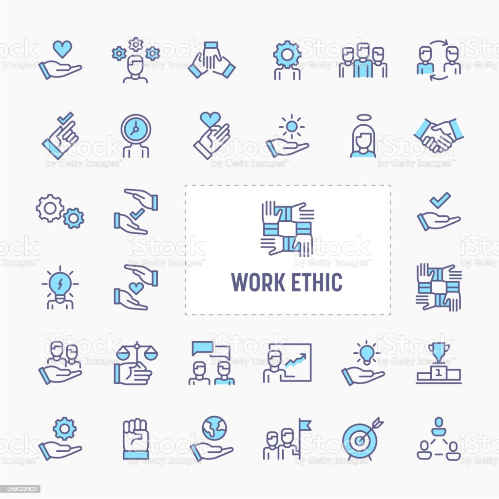 Work Ethic Minimal Icon Set