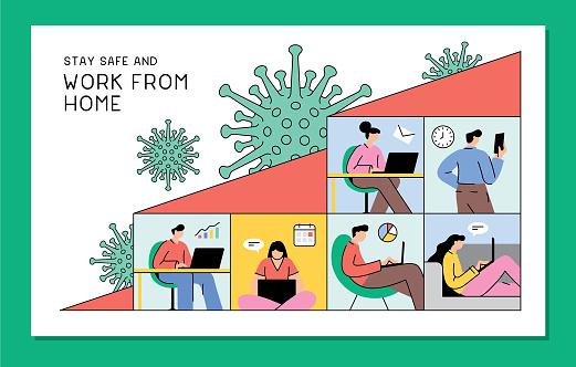 Work from home during coronavirus pandemic