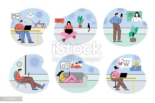 istock Work from home during coronavirus quarantine 1215085714