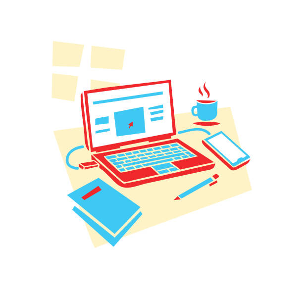 work from home - work from home stock illustrations