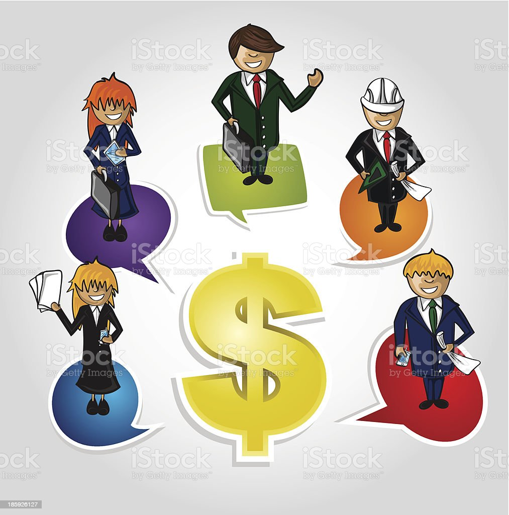 Work Group Business success people money sign illustration. royalty-free work group business success people money sign illustration stock vector art & more images of adult