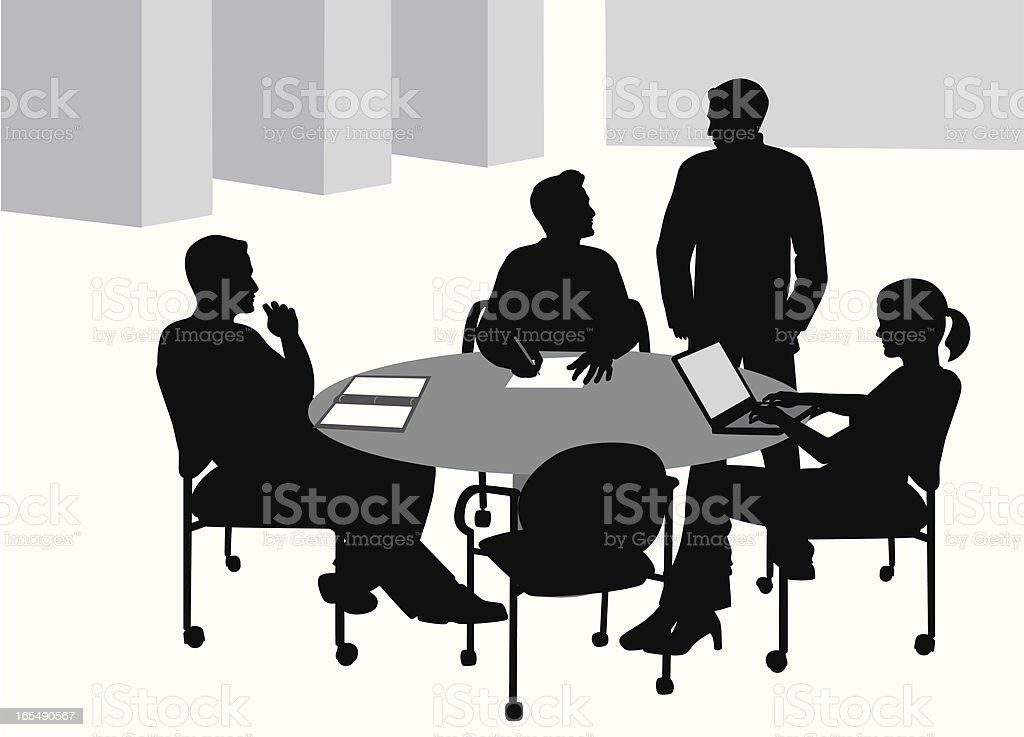 Work Group Vector Silhouette royalty-free work group vector silhouette stock vector art & more images of adult