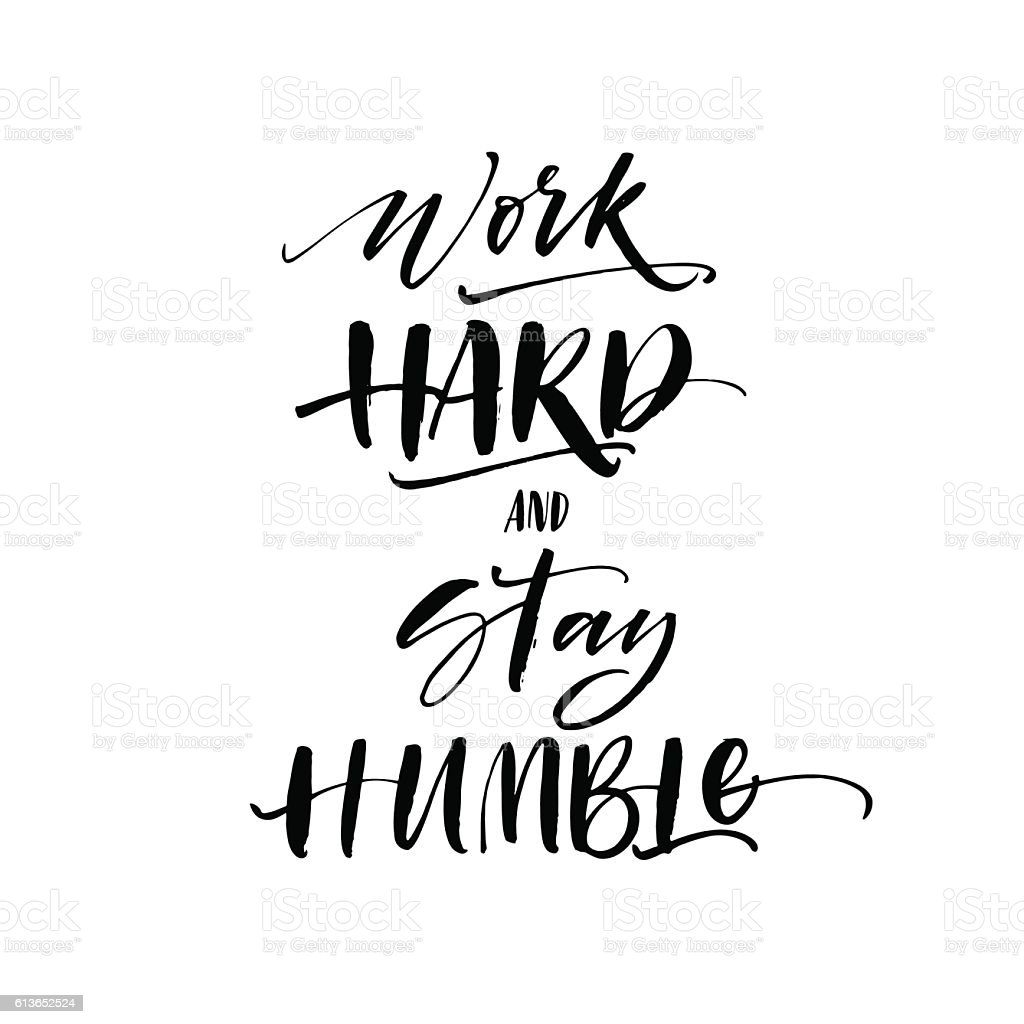 Humble Graphics: Work Hard And Stay Humble Postcard Stock Illustration