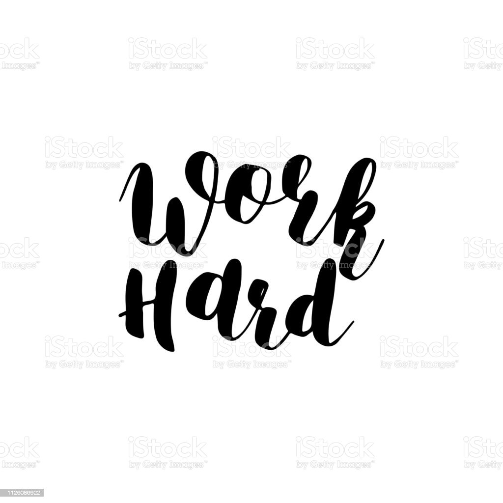 Image result for calligraphy work hard