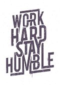 Work Hard Typography