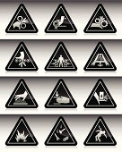 Work Hazard Symbols : Black Series