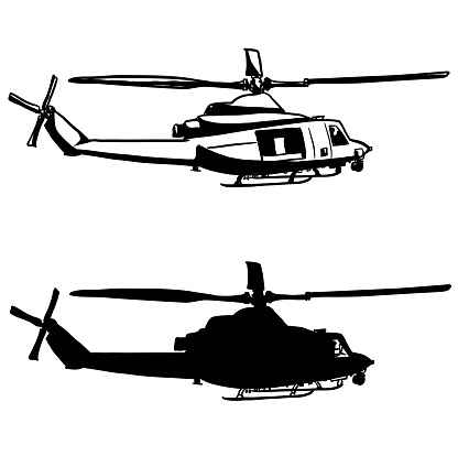 Work Helicopter Silhouette