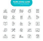 Data; Employment And Labor; File, Housework; Internet; Outline Icon Set
