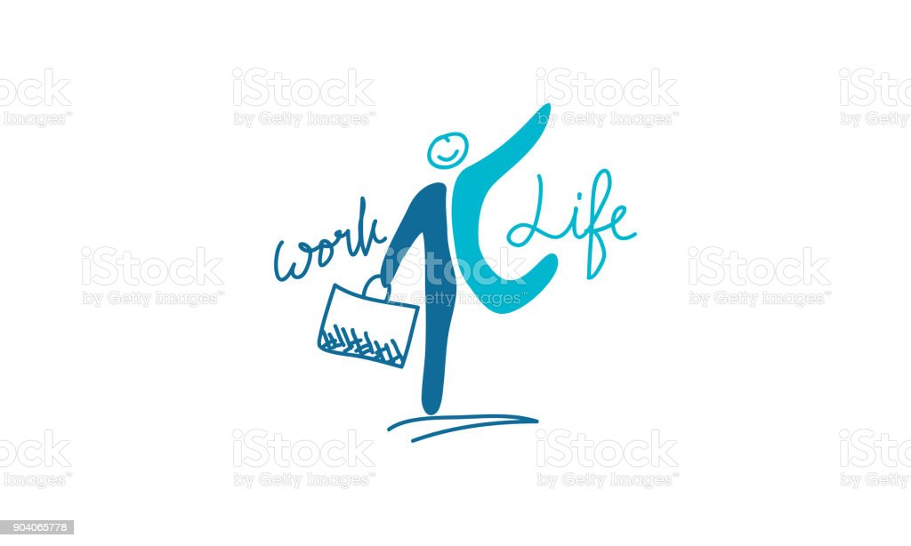 Work Life Balance Template Vector vector art illustration