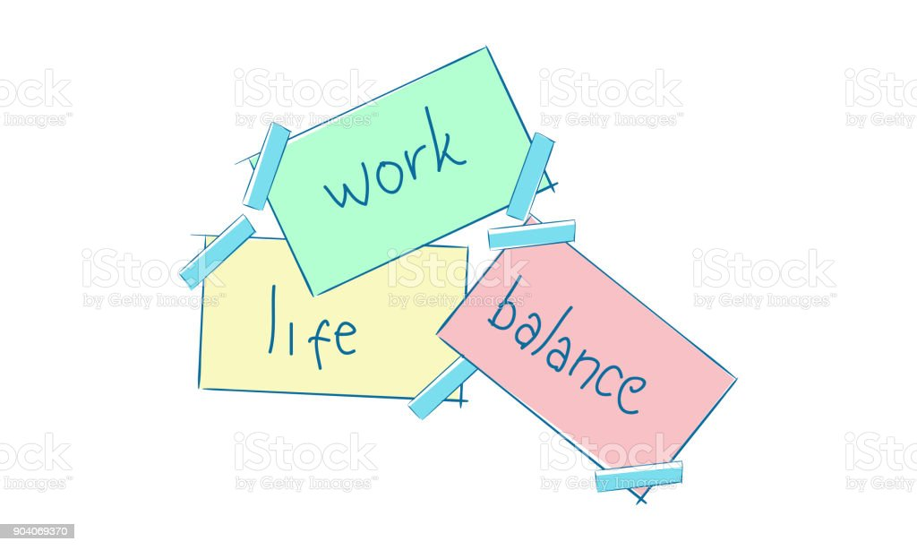work life balance template vector stock vector art more images of