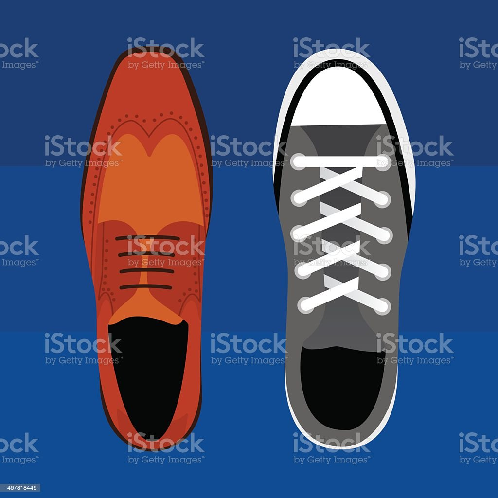 Work Life Social Life Shoes vector art illustration