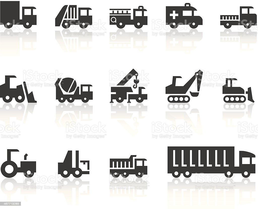 Work Machine Icons | Simple Black Series vector art illustration