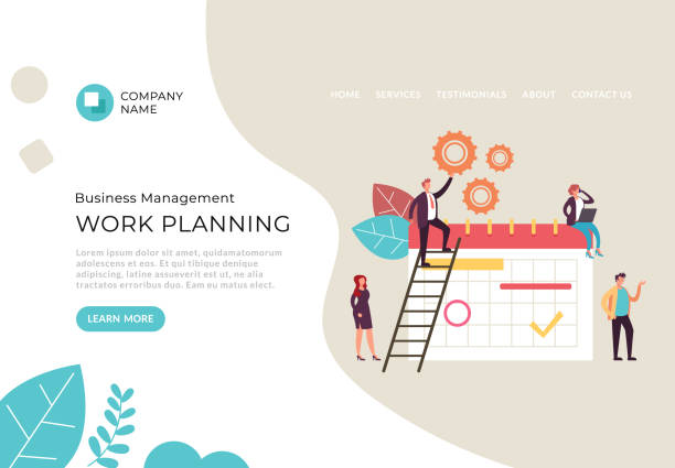 Work planning business people characters teamwork concept. Vector flat cartoon graphic design illustration vector art illustration