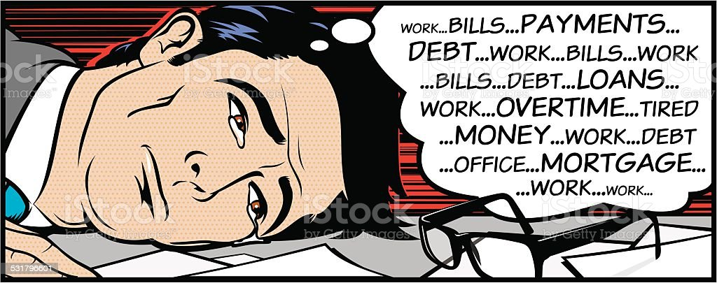 Work Related Stress vector art illustration