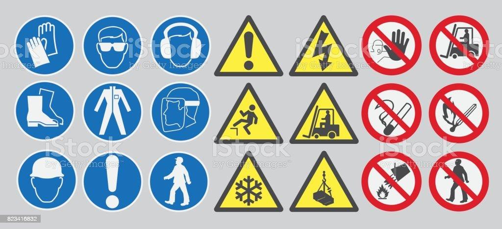 Arbeit-Sicherheitszeichen – Vektorgrafik