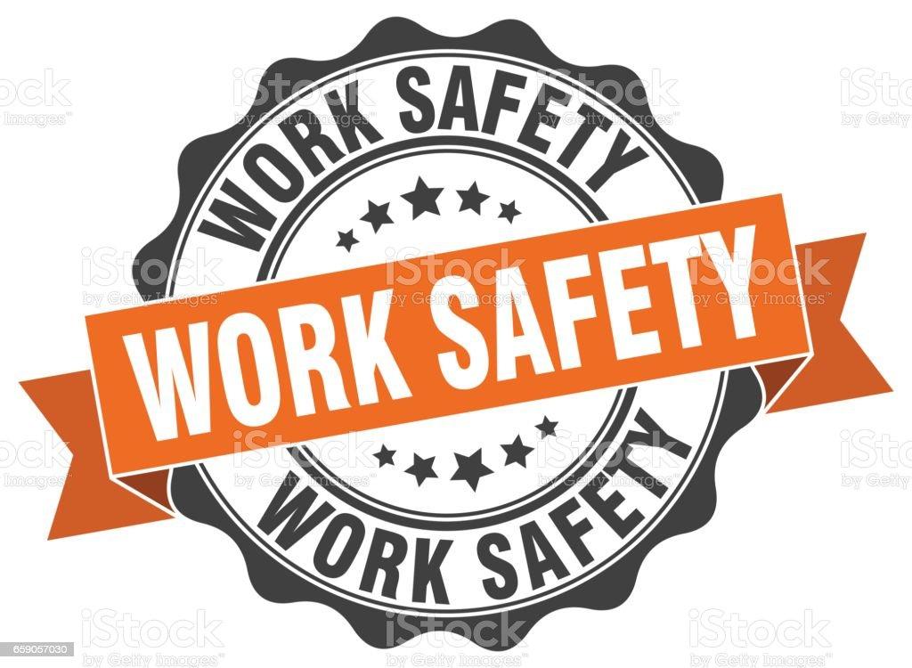 work safety stamp. sign. seal – Vektorgrafik
