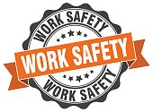 work safety stamp. sign. seal