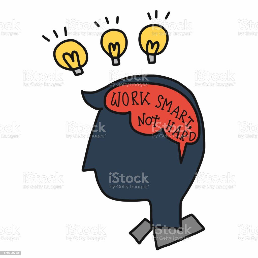 Arbeiten Sie Smart Nicht Hart Wort Im Menschlichen Gehirn ...