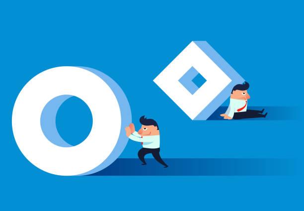 illustrazioni stock, clip art, cartoni animati e icone di tendenza di work to improve and increase efficiency - facilità