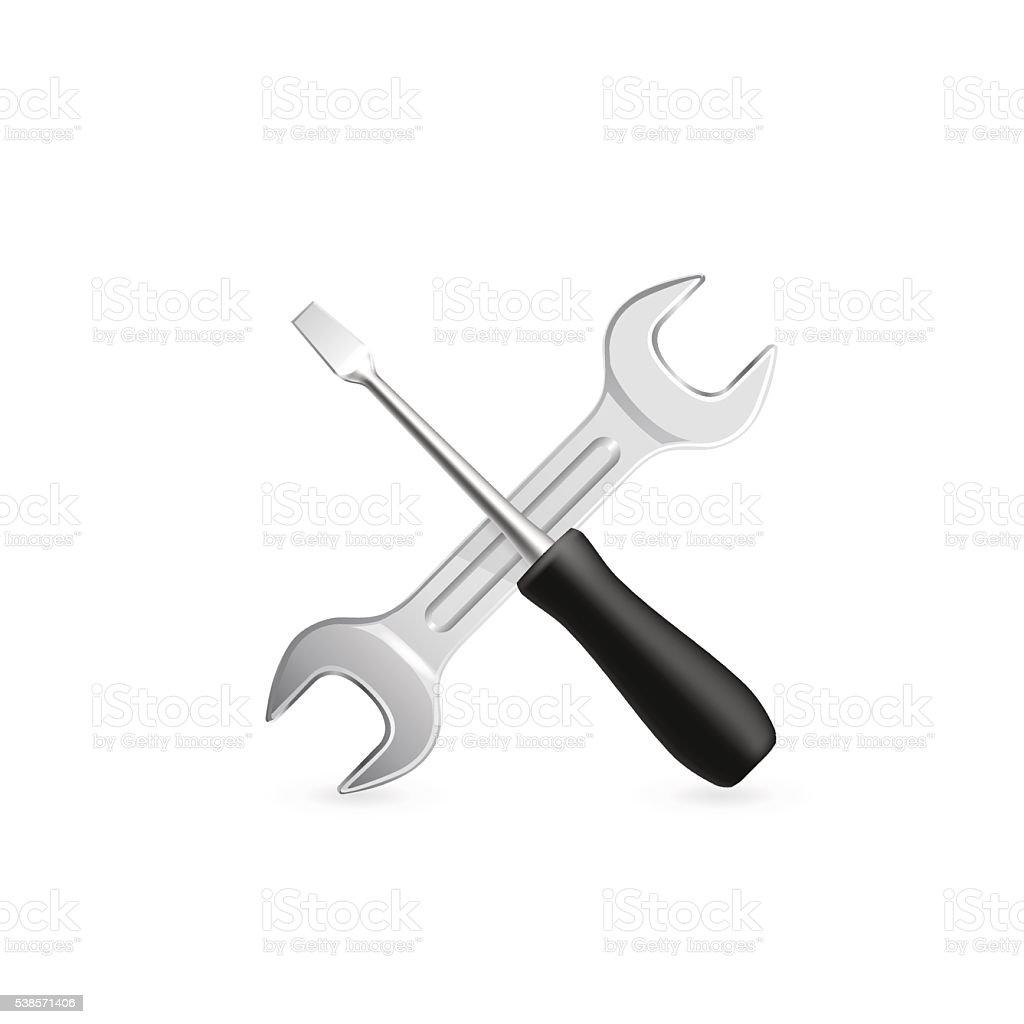 Work tool icon. Vector vector art illustration
