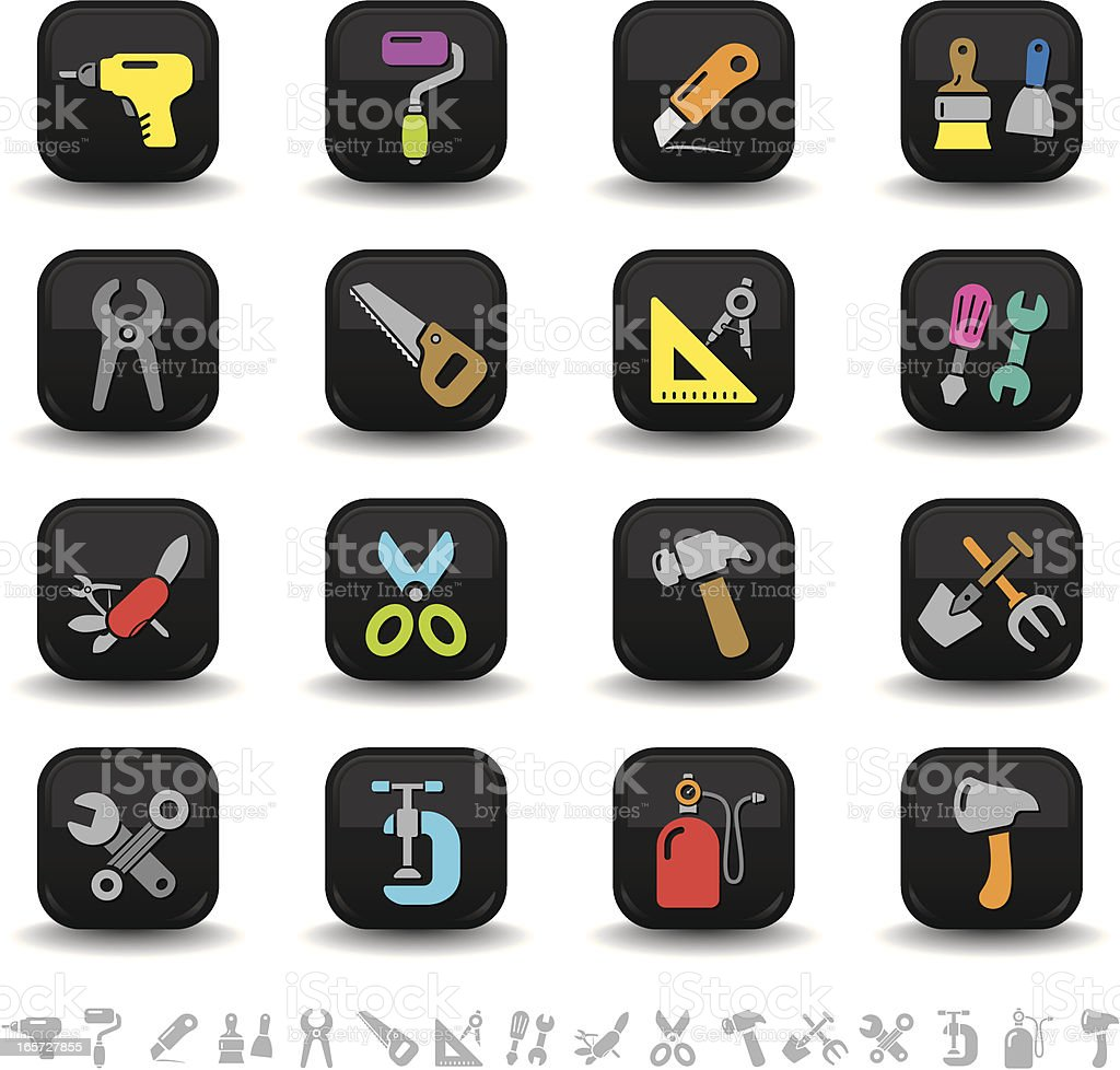 Work tool icons | bbton series royalty-free stock vector art