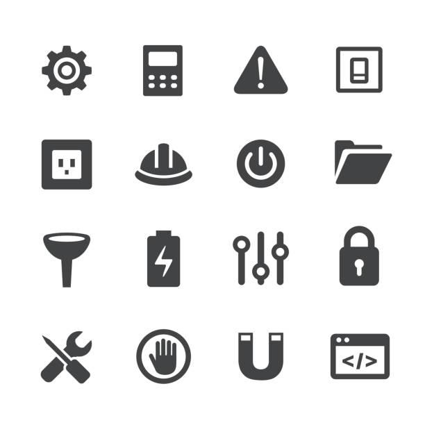 Work Tool Icons Set - Acme Series vector art illustration
