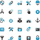 Quartico vector icons - Work Tool and Media