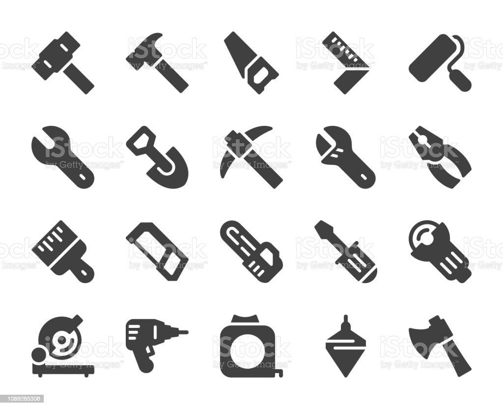 Work Tool - Icons vector art illustration