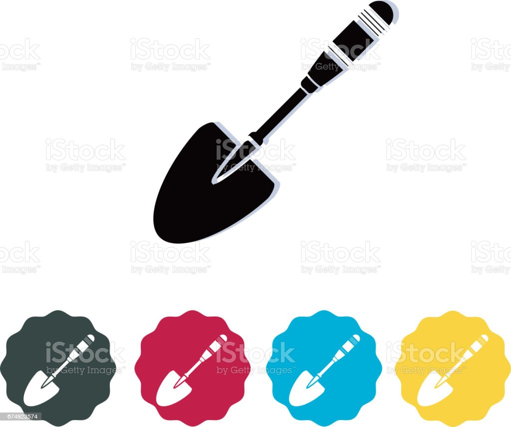 Work Tool - Shovel Icon royalty-free work tool shovel icon stock vector art & more images of agriculture