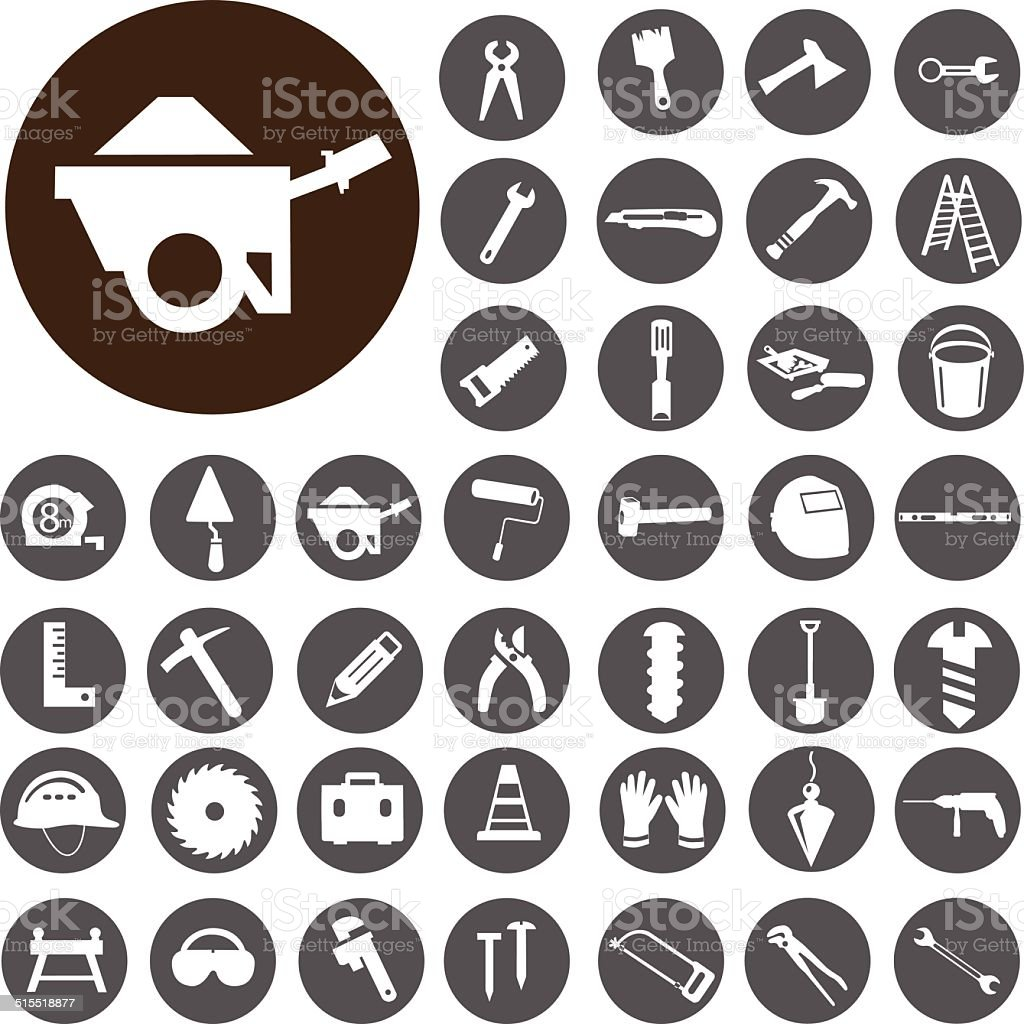 Die Werkzeuge Symbole set.  Illustration eps10 – Vektorgrafik
