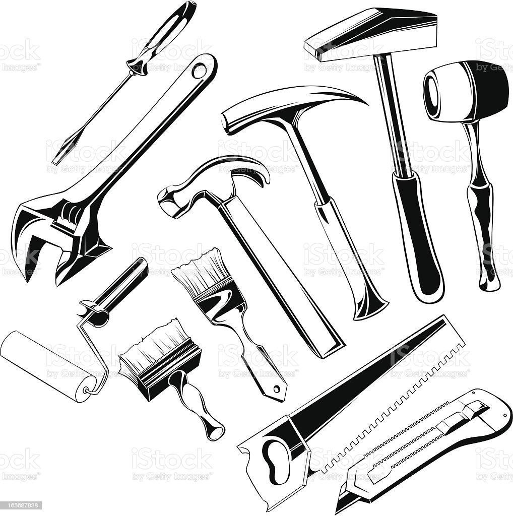 Work tools royalty-free stock vector art