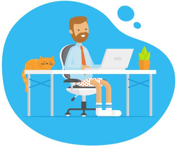 illustrations, cliparts, dessins animés et icônes de travail - homme slip