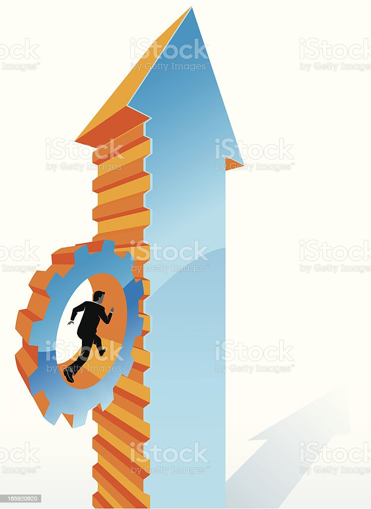 Work Your Way Up royalty-free stock vector art