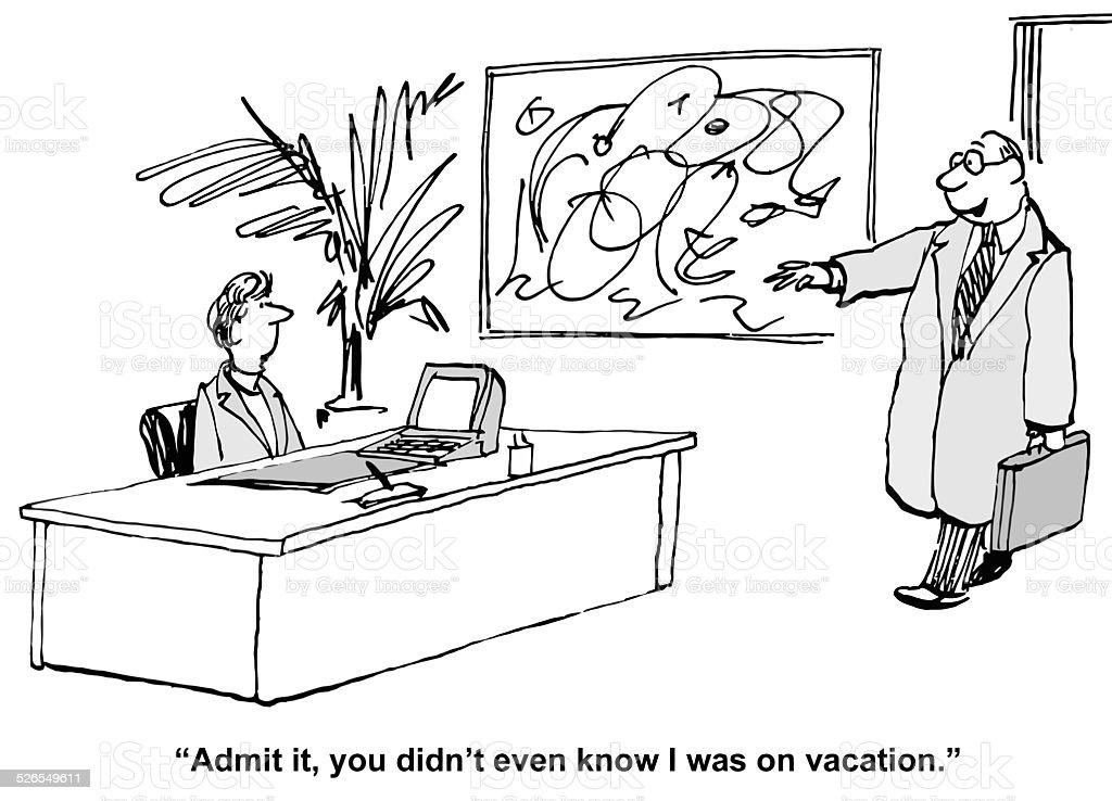Workaholic Boss – Vektorgrafik