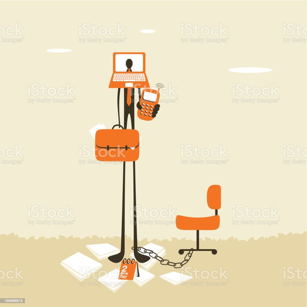 Workaholic royalty-free workaholic stock vector art & more images of 24-7