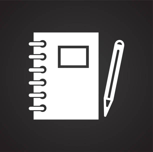 Arbeitsmappe Symbol auf schwarzem Hintergrund für Grafik und Webdesign, modernen einfachen Vektor-Zeichen. Internet-Konzept. Trendige Symbol für Website-Design-Web-Taste oder mobile app. – Vektorgrafik