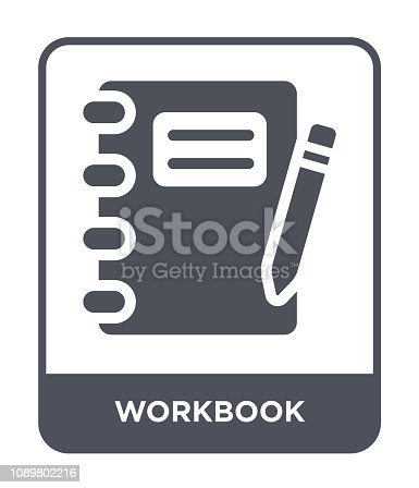 workbook icon vector on white background, workbook trendy filled icons from Business and analytics collection