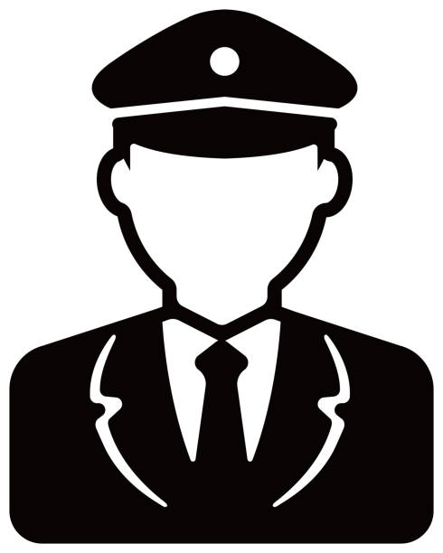 ilustraciones, imágenes clip art, dibujos animados e iconos de stock de ilustración del icono del avatar del trabajador (cuerpo superior) / hombre de la policía, conductor del autobús - conductor de autobús