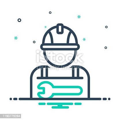 Icon for worker, employee, practician, roustabout, attendant, salesperson, hireling, shopman, agent, staff, member