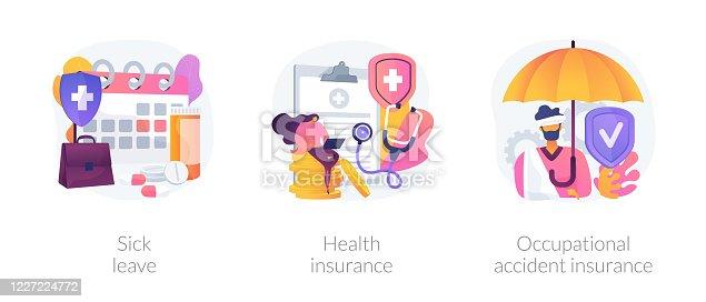 istock Worker healthcare system vector concept metaphors 1227224772