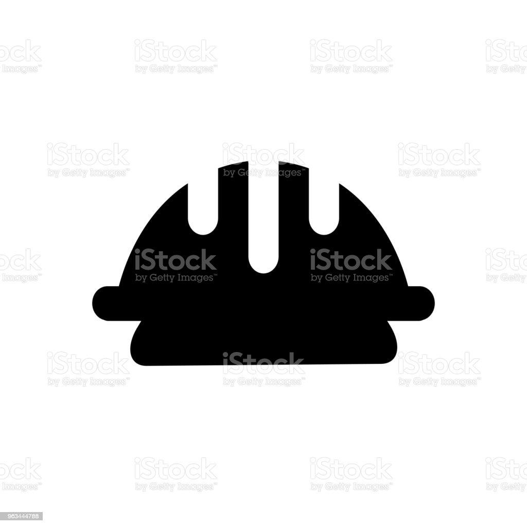 işçi kask, vektör simgesi çalışan güvenlik dolu. Modern basit izole işareti. Piksel mükemmel vektör çizim logo, Web sitesi, mobil uygulaması ve diğer tasarımları için - Royalty-free Baş Vector Art