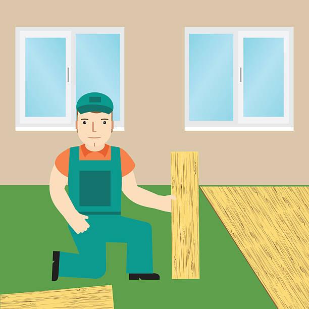 Royalty Free Wood Laminate Flooring Clip Art Vector