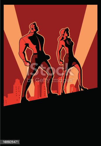 Istockphoto's Exclusive. A propaganda (vintage) style poster for office workers.