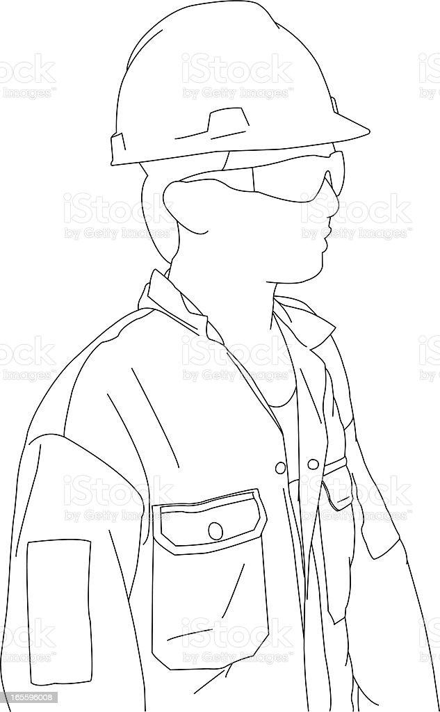 Trabajador ilustración de trabajador y más banco de imágenes de accesorio de cabeza libre de derechos