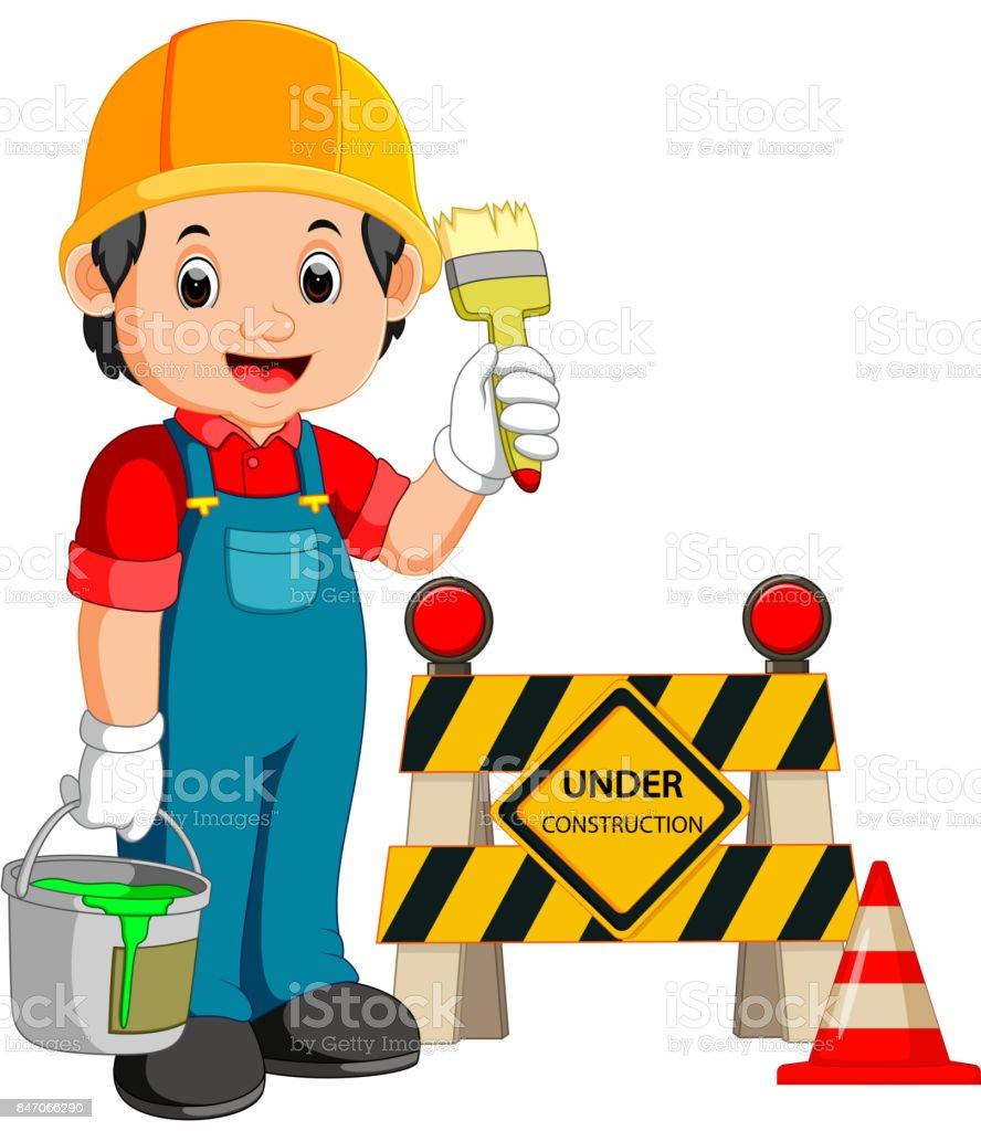 工事看板の労働者 アイコンのベクターアート素材や画像を多数ご用意